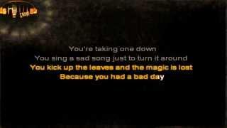 Daniel Powter - Bad day karaoke