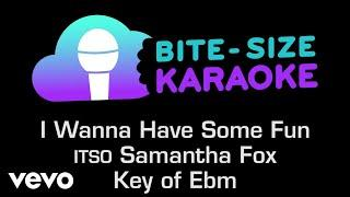 Samantha Fox - I Wanna Have Some Fun (Bite-Size Karaoke)