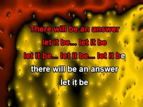 Let It Be (with Lyrics) - The Beatles Karaoke