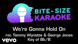 George Jones & Tammy Wynette - We're Gonna Hold On (Bite-Size Karaoke)