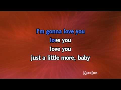 Karaoke I'm Gonna Love You Just A Little More Baby - Barry White *