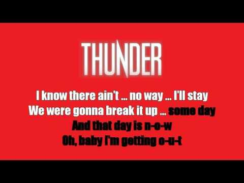 Karaoke: Thunder / Dirty Love