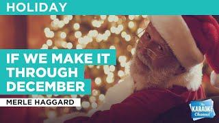 If We Make It Through December : Merle Haggard | Karaoke with Lyrics
