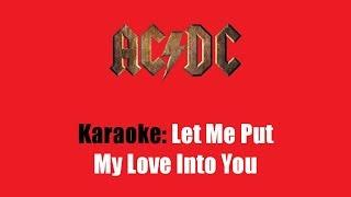 Karaoke: AC/DC / Let Me Put My Love Into You