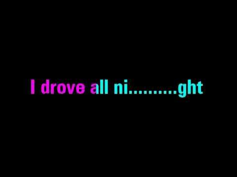 I Drove All Night - Roy Orbison Karaoke - You Sing The Hits