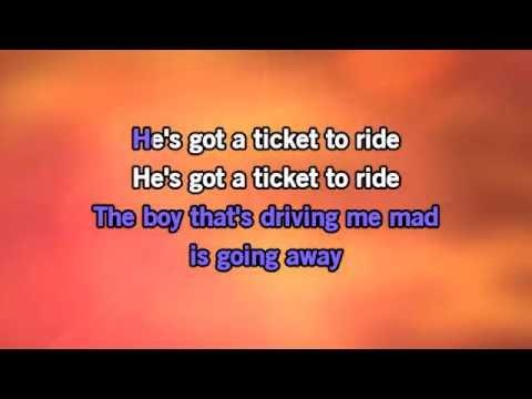Karaoke Ticket To Ride - The Carpenters *