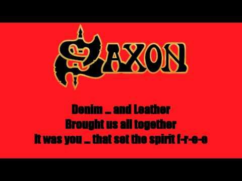 Karaoke: Saxon / Denim And Leather