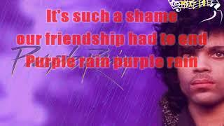 Prince - Purple rain karaoke HD