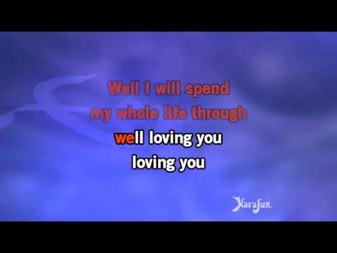 Karaoke Loving You (Uptempo Version - From Loving You Movie Soundtrack) - Elvis Presley *