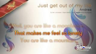 """Andrea - """"Just Get Out Of My Life"""" (Montenegro) - [Karaoke version]"""