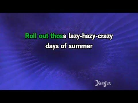 Karaoke Those Lazy-Hazy-Crazy Days Of Summer - Nat King Cole *